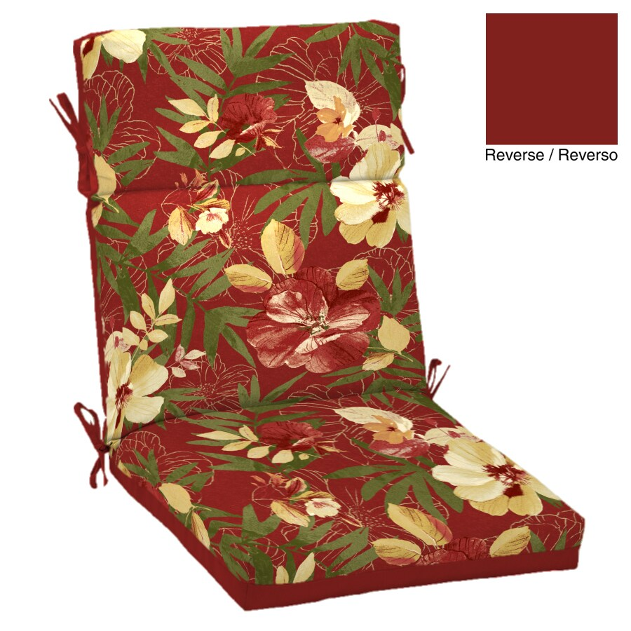 Garden Treasures Tropical Cushion For High-Back Chair