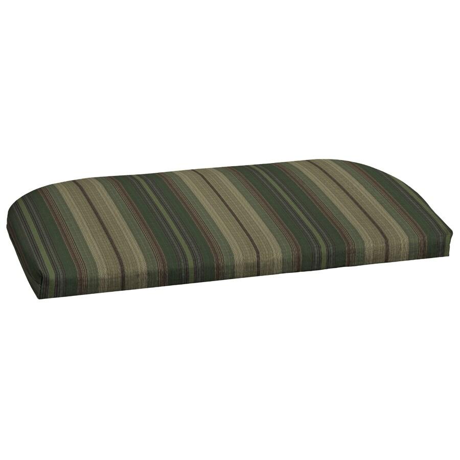 Garden Treasures 18-in L x 41.5-in W Stripe Green Loveseat Cushion
