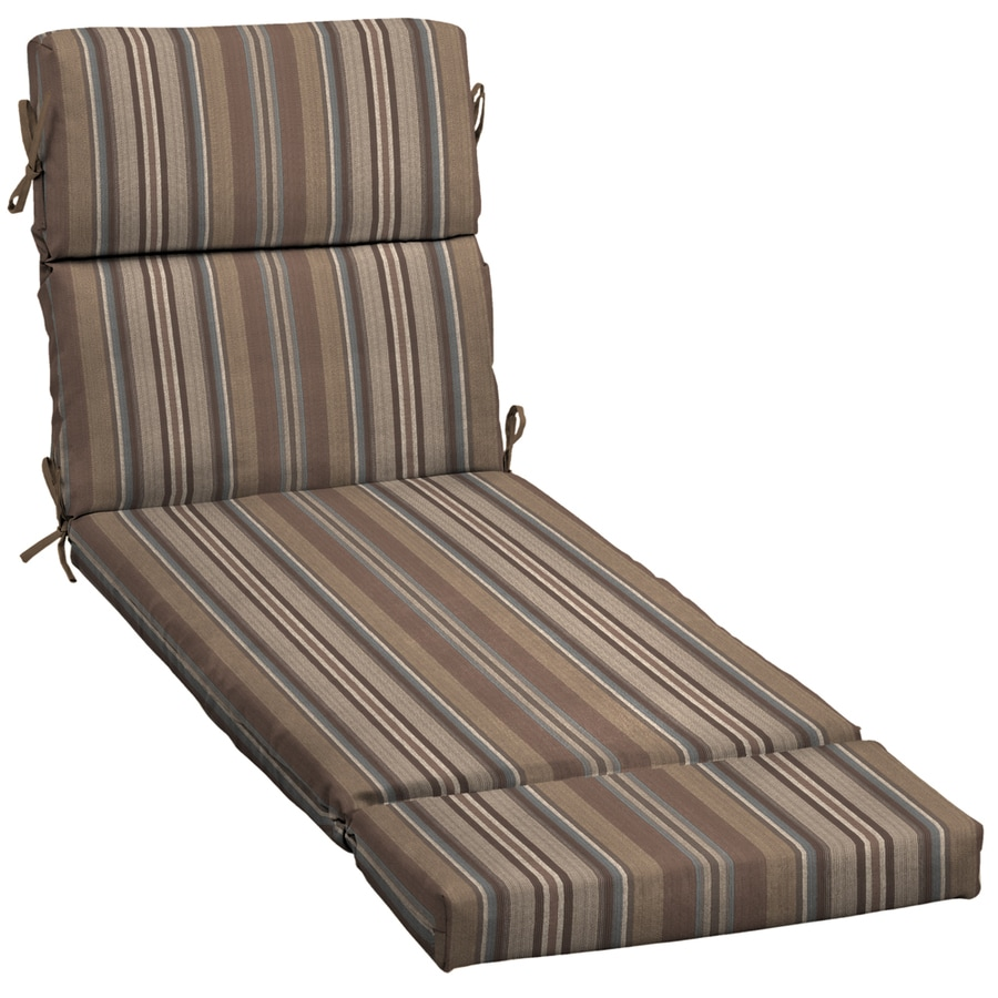 Shop 73 in l x 23 in w stripe stone patio chaise lounge for 23 w outdoor cushion for chaise