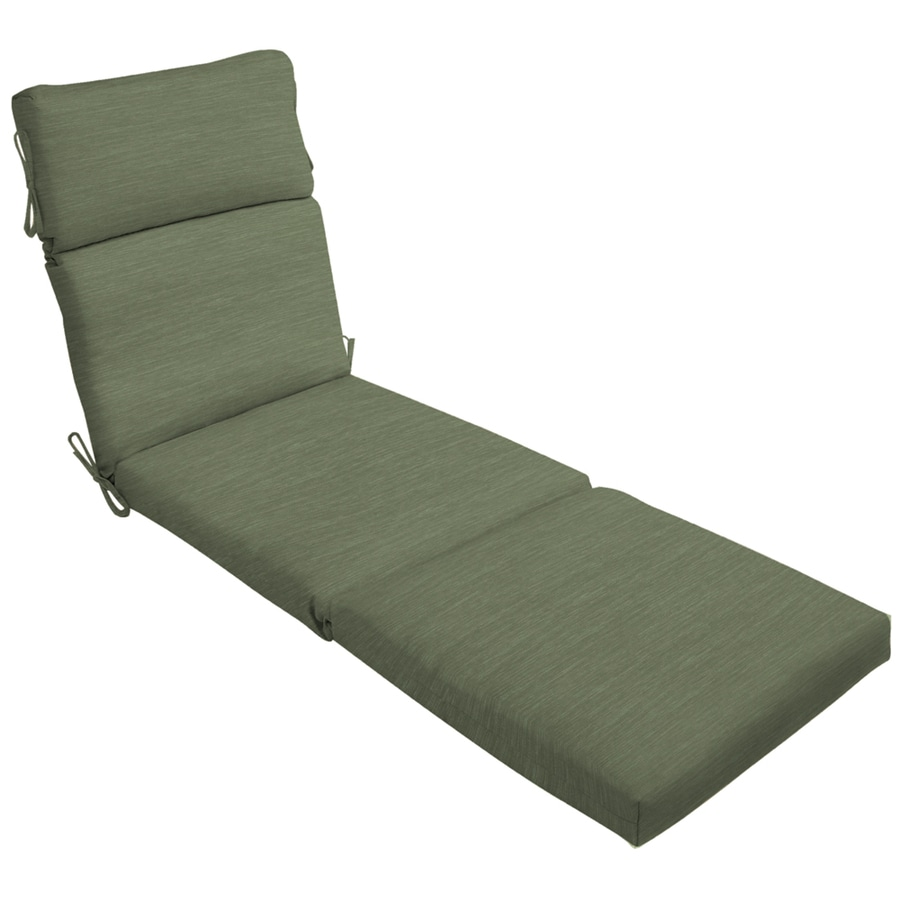 Shop 79 in l x 23 in w green texture patio chaise lounge for 23 w outdoor cushion for chaise