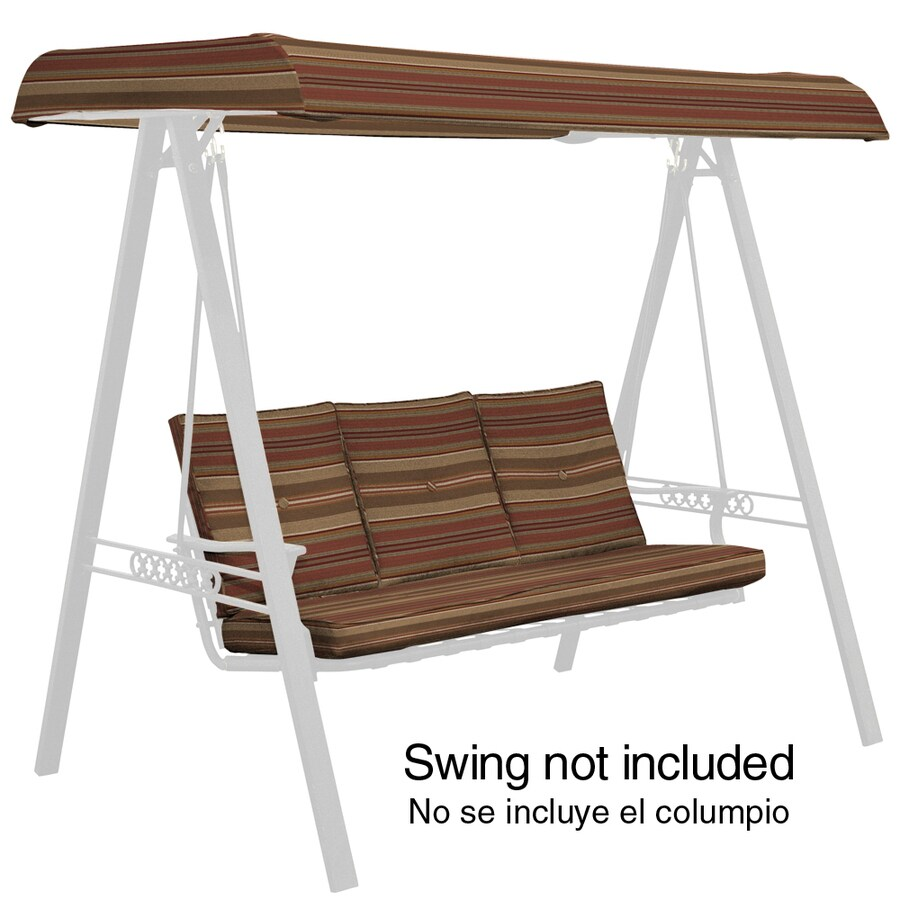 Arden Outdoor Chili Stripe Cushion For Porch Swing