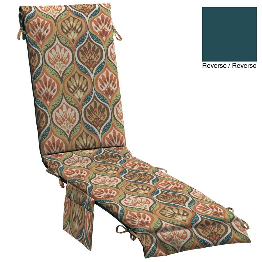 "allen + roth 76""L x 19""W Patagonia Orange Floral Chaise Cushion"