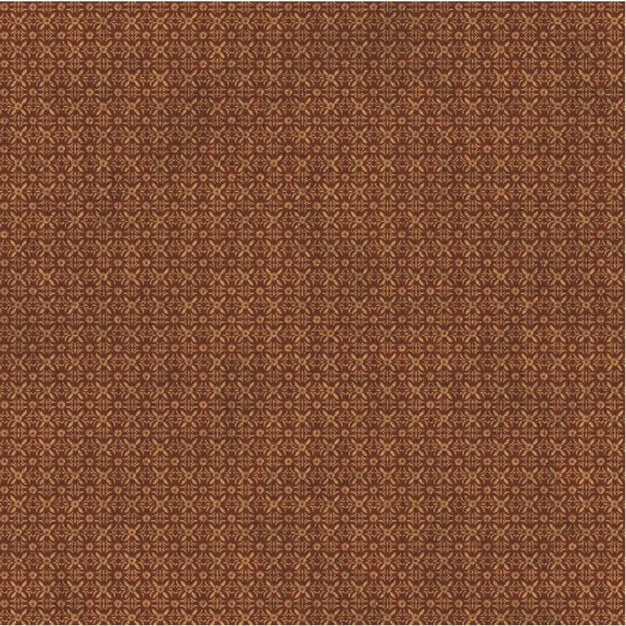 York Wallcoverings Burgundy and Gold Strippable Paper Prepasted Classic Wallpaper
