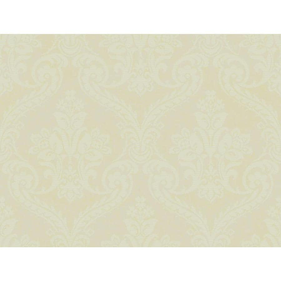 York Wallcoverings Tan and Green Peelable Paper Prepasted Classic Wallpaper