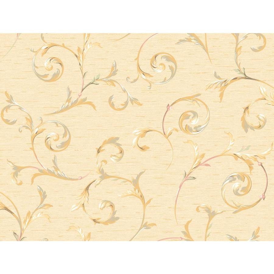 Inspired By Color Peach Peelable Paper Prepasted Classic Wallpaper