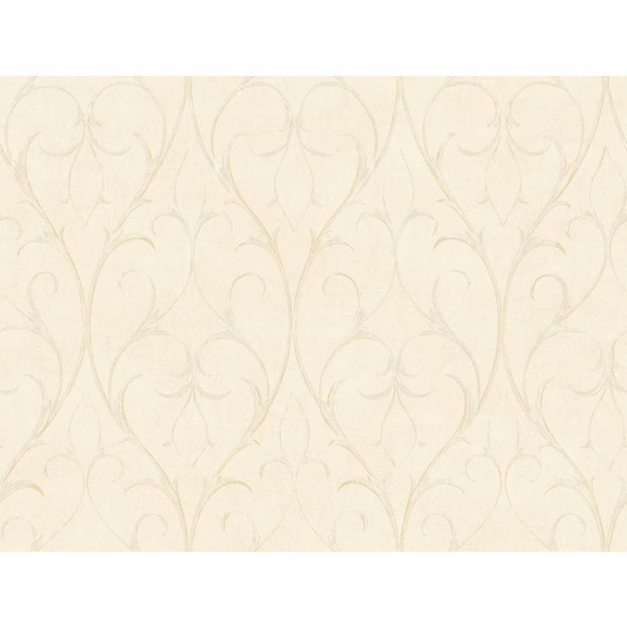 York Wallcoverings Cream Peelable Paper Prepasted Classic Wallpaper