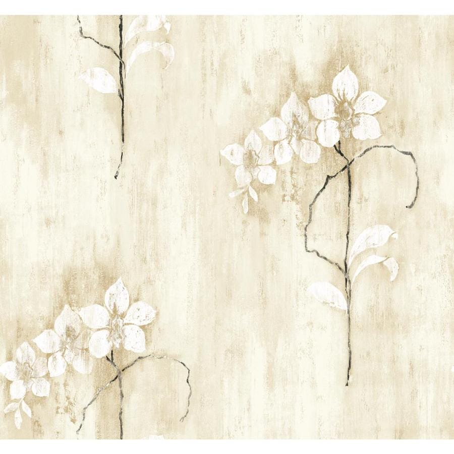 Inspired By Color Tan, Black and White Peelable Paper Prepasted Classic Wallpaper