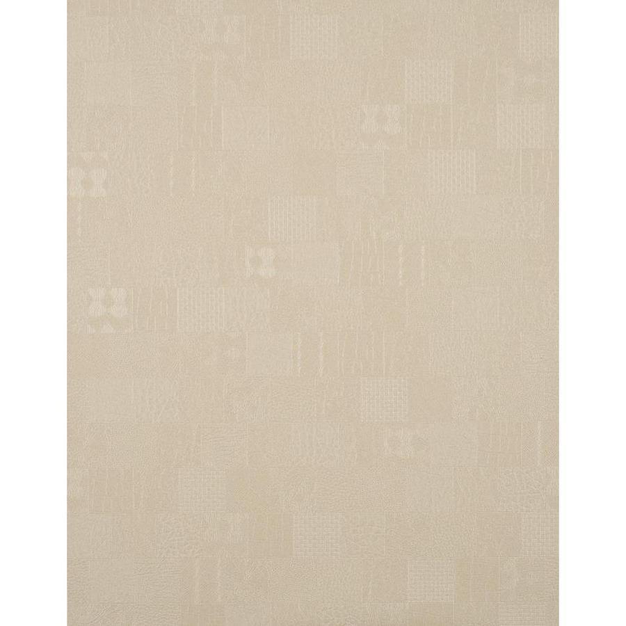 York Wallcoverings Beige Strippable Vinyl Unpasted Textured Wallpaper
