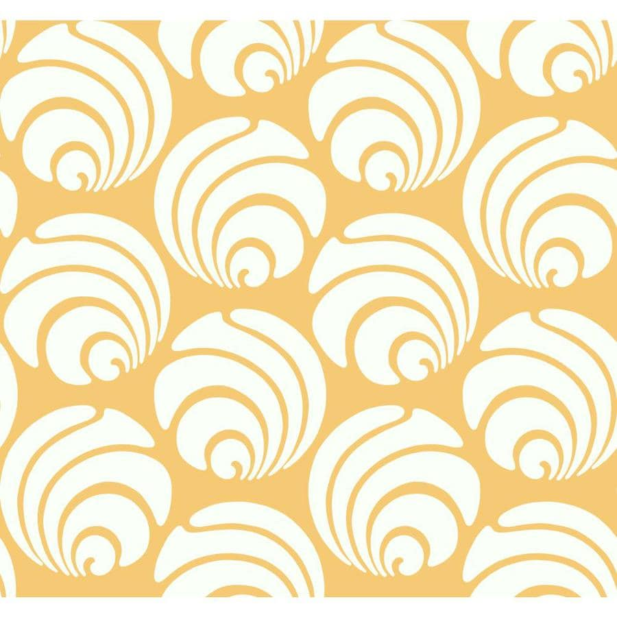 Inspired By Color Orange and White Peelable Paper Prepasted Classic Wallpaper