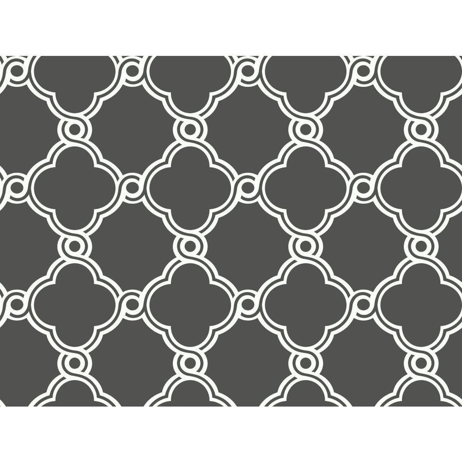 York Wallcoverings Black, White Peelable Paper Unpasted Classic Wallpaper
