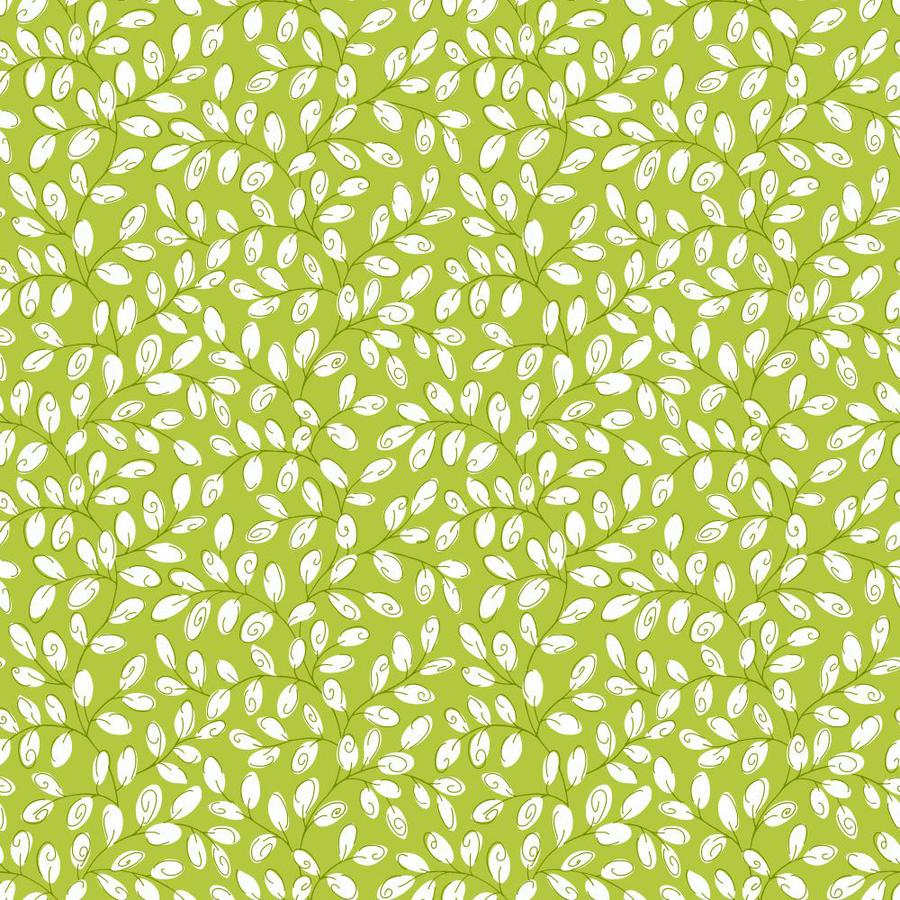 Inspired By Color Green and White Peelable Paper Prepasted Classic Wallpaper