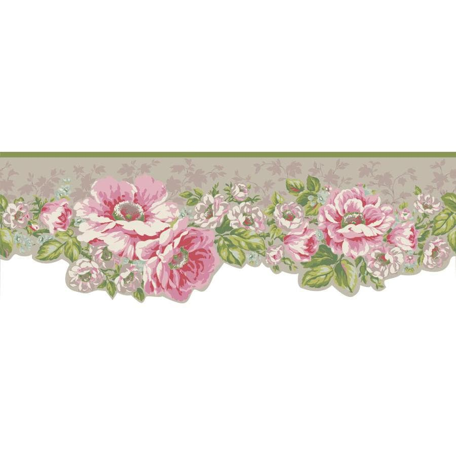 Inspired By Color 6.75-in Multicolor Prepasted Wallpaper Border