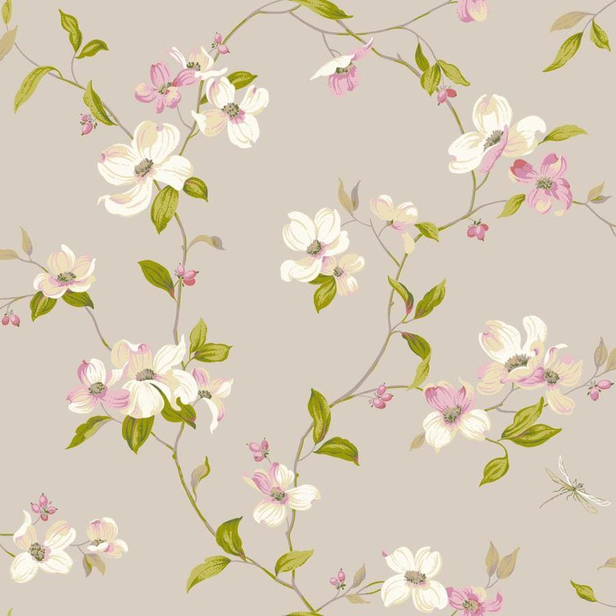 Inspired By Color Gray, White, and Purple Peelable Paper Prepasted Classic Wallpaper