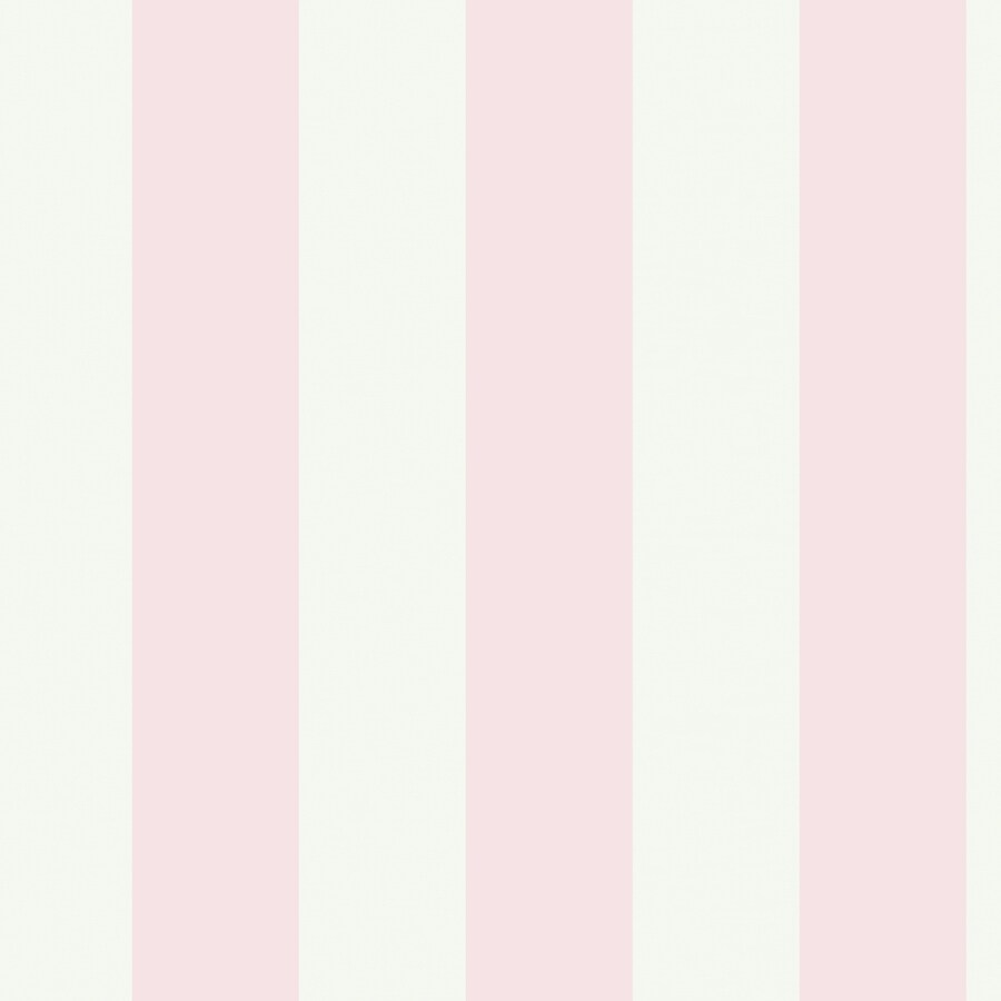 York Wallcoverings White and Pink Strippable Paper Prepasted Classic Wallpaper