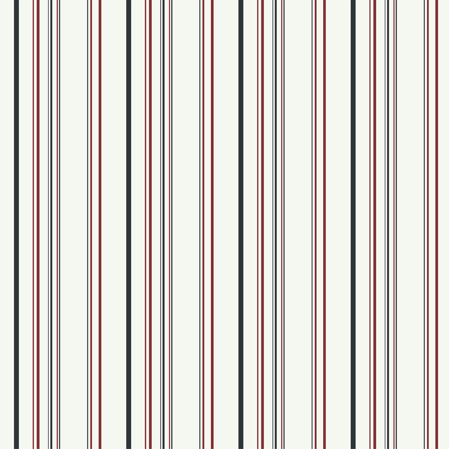 York Wallcoverings White and Black and Red Strippable Paper Prepasted Classic Wallpaper