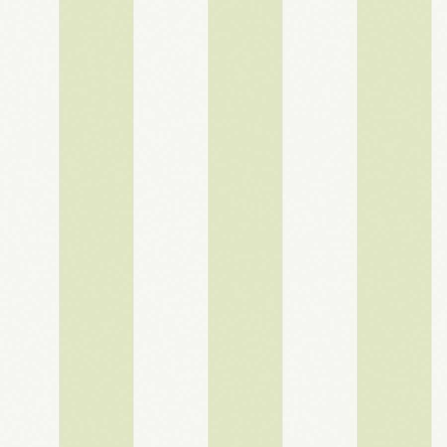 York Wallcoverings Green and Cream Strippable Paper Prepasted Classic Wallpaper