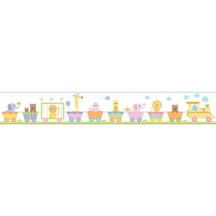 Inspired By Color 9-in Multicolor Prepasted Wallpaper Border
