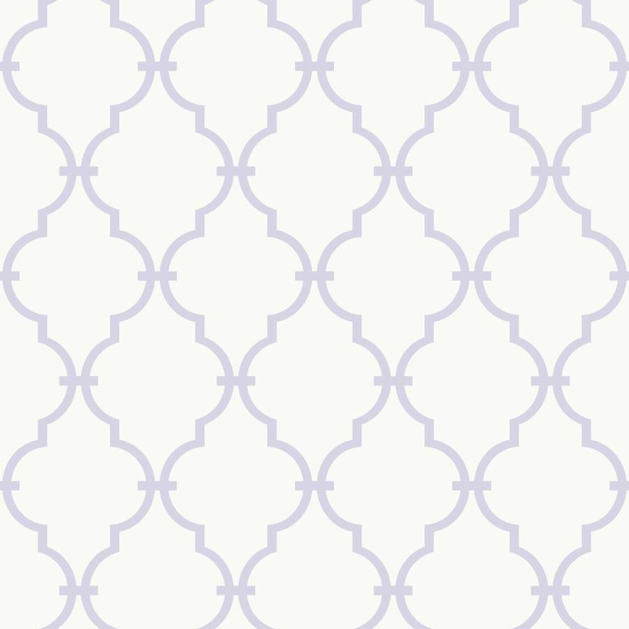 Inspired By Color Purple and White Peelable Paper Prepasted Classic Wallpaper