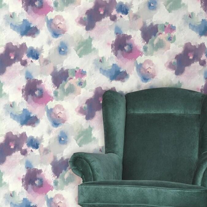 RoomMates 28.2-sq ft Pink Vinyl Floral Self-Adhesive Peel ...