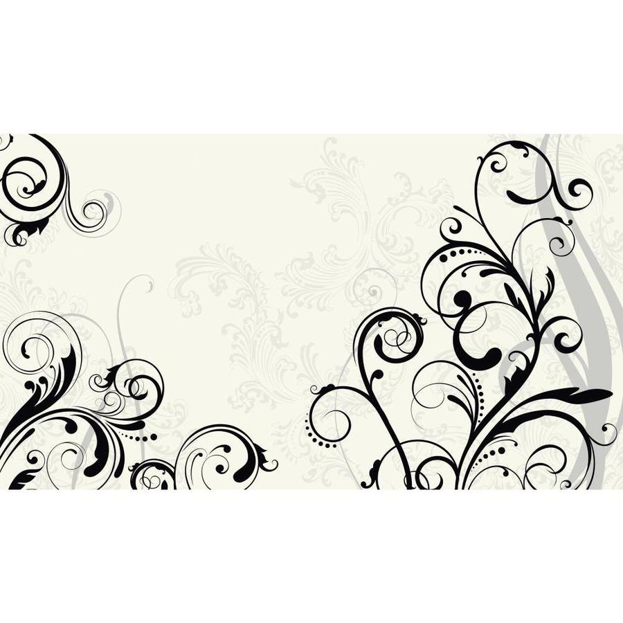 York Wallcoverings White and Black and Gray Strippable Paper Prepasted Classic Wallpaper