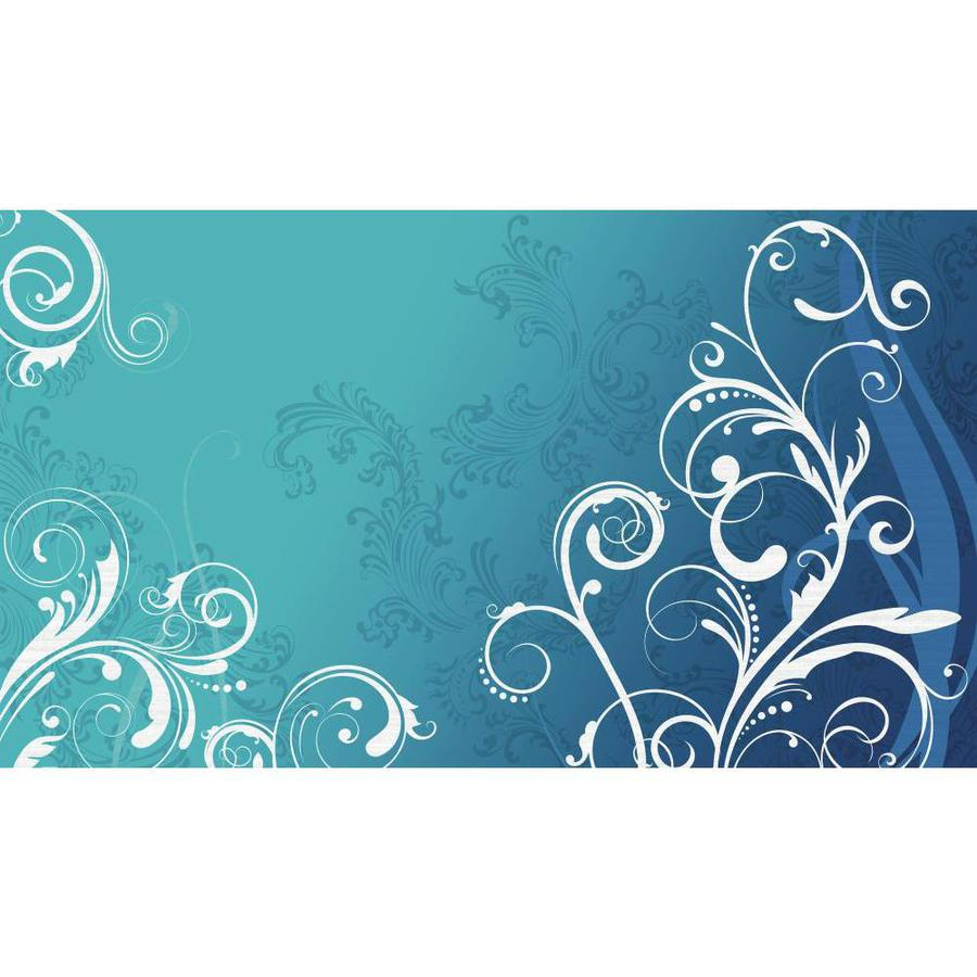 York Wallcoverings Teal and White and Gray and Twilight Blue Strippable Paper Prepasted Classic Wallpaper