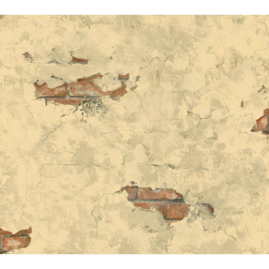York Wallcoverings Cream, Beige Peelable Paper Prepasted Classic Wallpaper