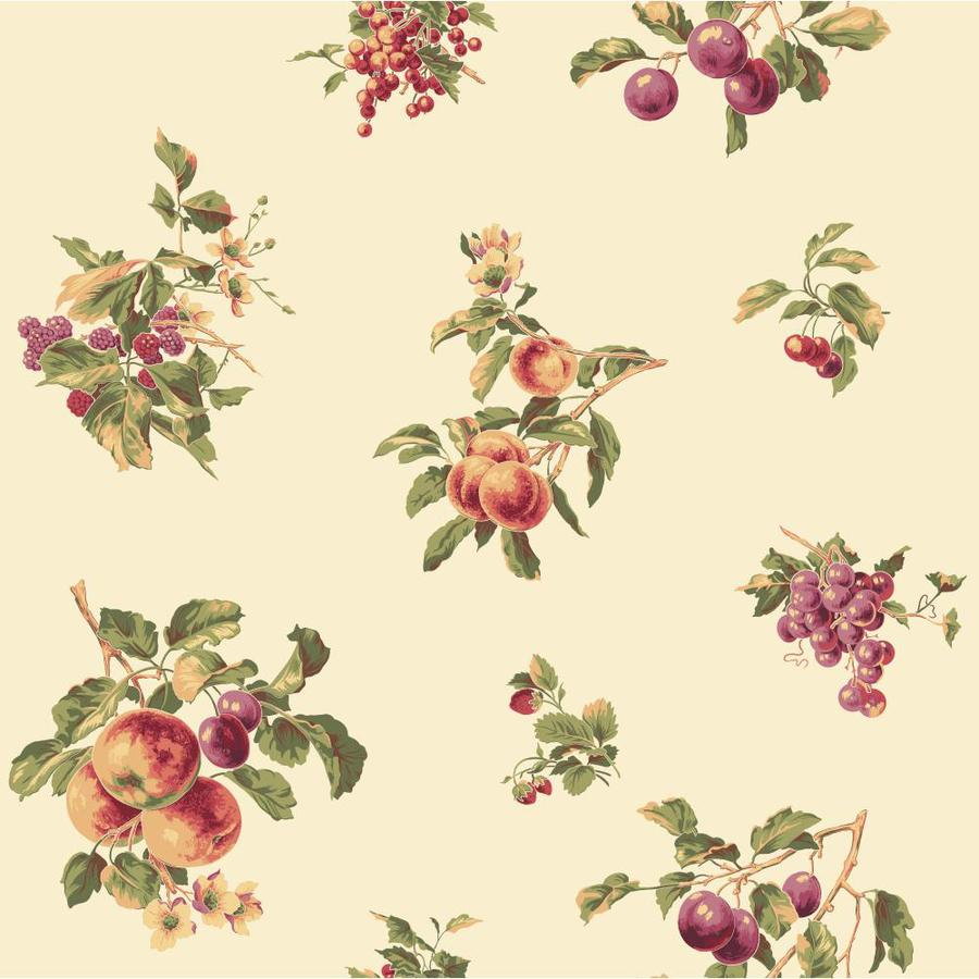 Inspired By Color Red, Purple and Ivory Peelable Paper Prepasted Classic Wallpaper