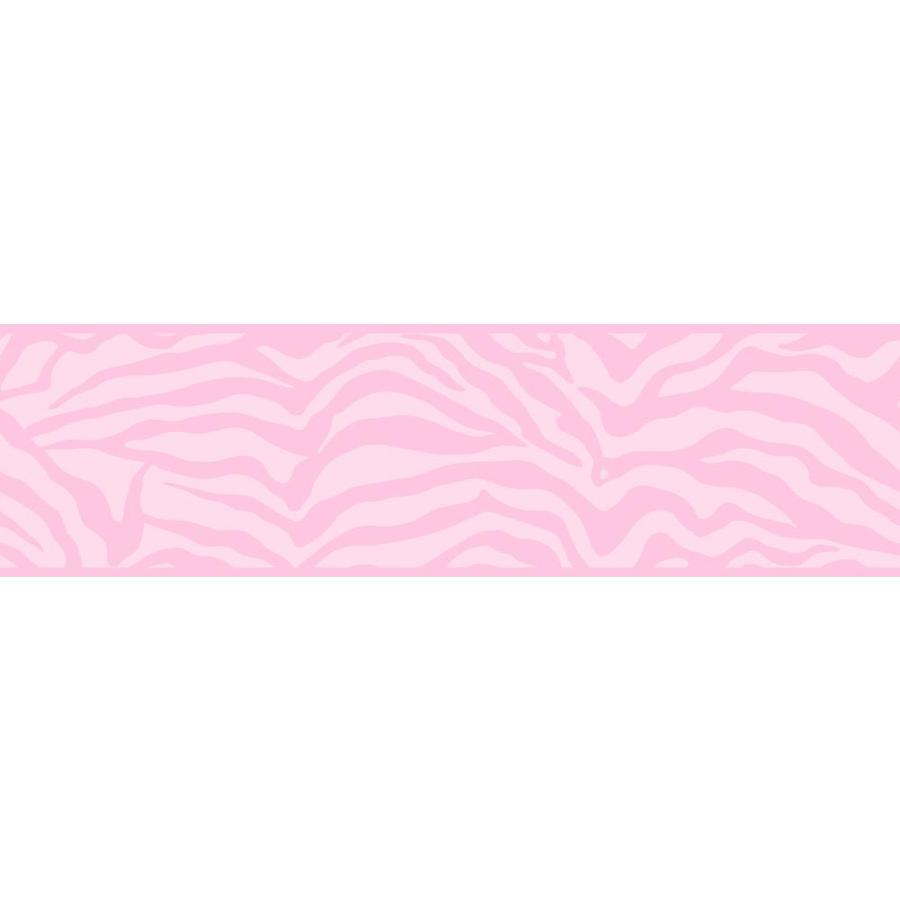 Inspired By Color 6.75-in Pink/White Prepasted Wallpaper Border