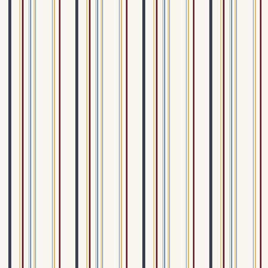 Inspired By Color Cream, Blue, Yellow, Red Peelable Paper Prepasted Classic Wallpaper