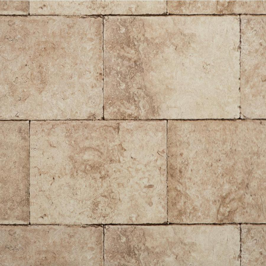 York Wallcoverings Brown, Stone, Brick and Black Strippable Vinyl Unpasted Textured Wallpaper