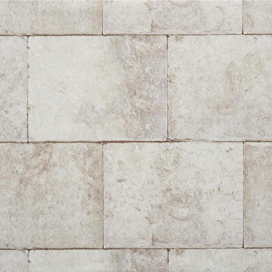 York Wallcoverings Light Gray, Stone and Brick Strippable Vinyl Unpasted Textured Wallpaper