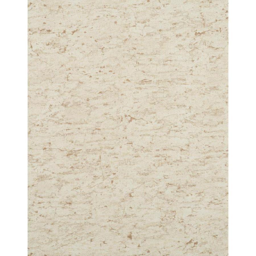 York Wallcoverings Cream Strippable Vinyl Unpasted Textured Wallpaper
