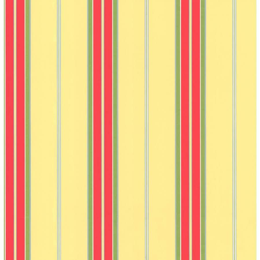 Inspired By Color Yellow, Red, and Green Peelable Paper Prepasted Classic Wallpaper
