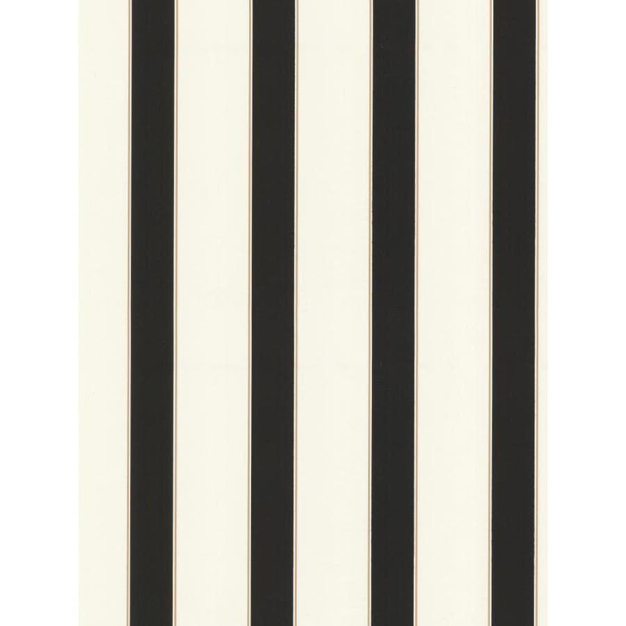 Inspired By Color Black, Tan and White Peelable Paper Prepasted Classic Wallpaper
