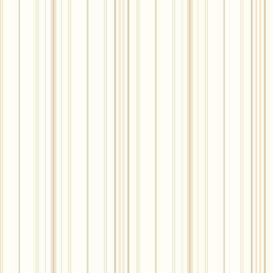 York Wallcoverings Cream, Beige Peelable Paper Prepasted Classic Wallpaper