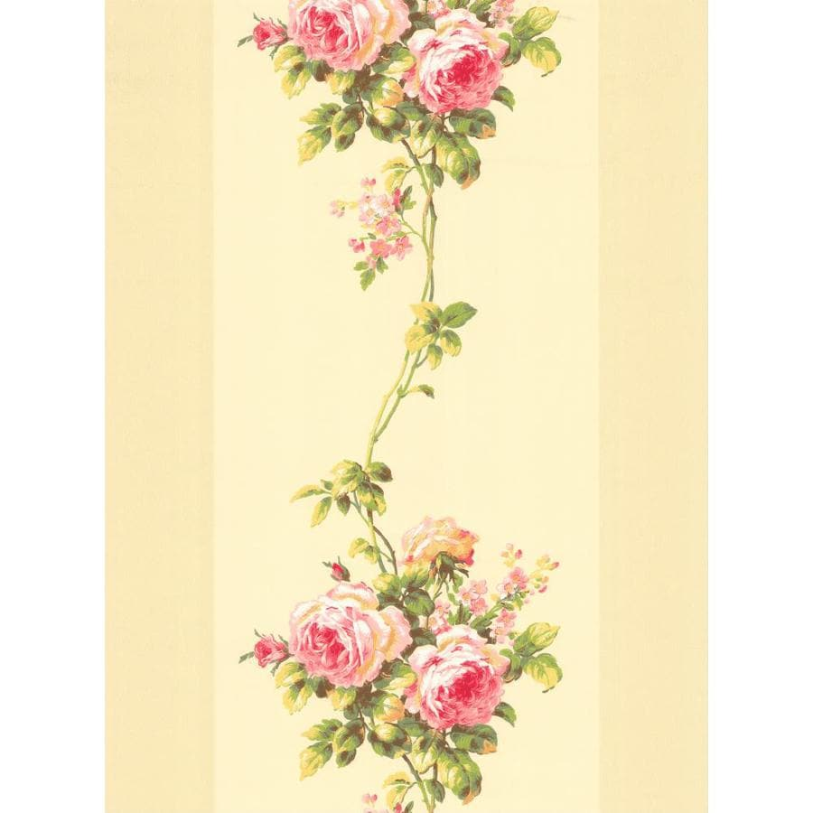 Inspired By Color Pink and Beige Peelable Paper Prepasted Classic Wallpaper