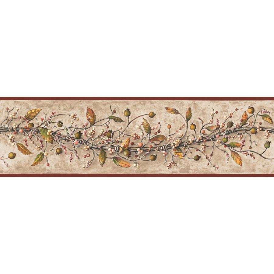 Inspired By Color 6-in Khaki Prepasted Wallpaper Border