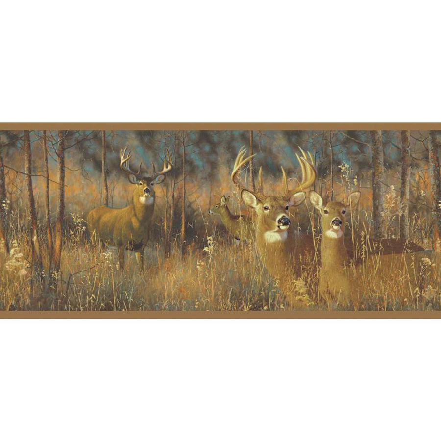Inspired By Color 9-in Brown Prepasted Wallpaper Border