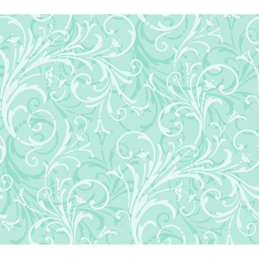 York Wallcoverings Turquoise Strippable Paper Prepasted Classic Wallpaper