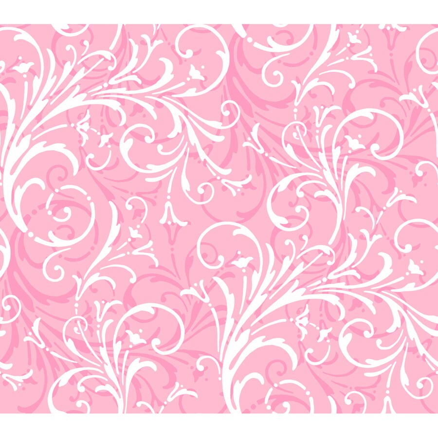 York Wallcoverings Pink Strippable Paper Prepasted Classic Wallpaper