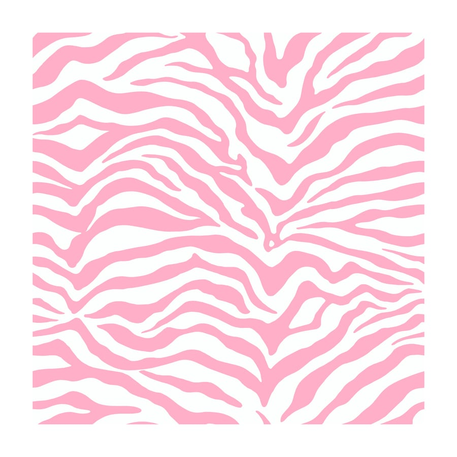 York Wallcoverings Pink, White, and Zebra Strippable Paper Prepasted Classic Wallpaper