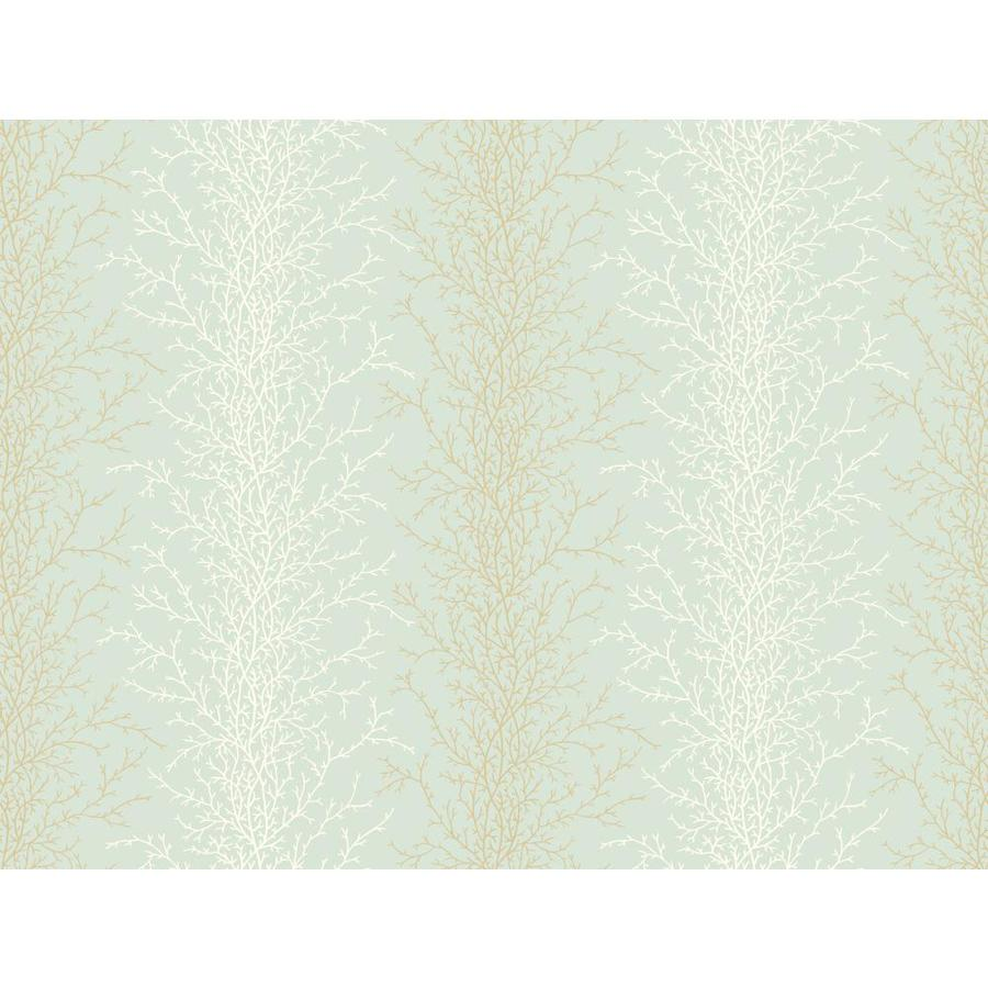 Inspired By Color Blue, White, and Brown Peelable Paper Prepasted Classic Wallpaper