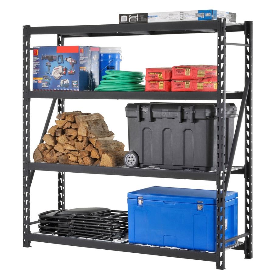 edsal 84-in H x 84-in W x 24-in D 4-Tier Steel Freestanding Shelving Unit