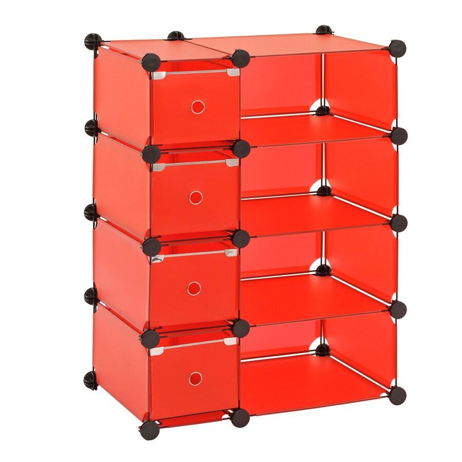 edsal 32-1/2-in W x 14-3/4-in D x 32-in H Red Modular Cube