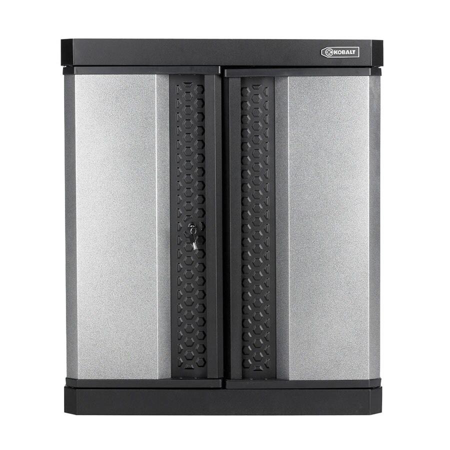 Kobalt 30-in W x 34-in H x 14-in D Steel Wall-Mount Garage Cabinet