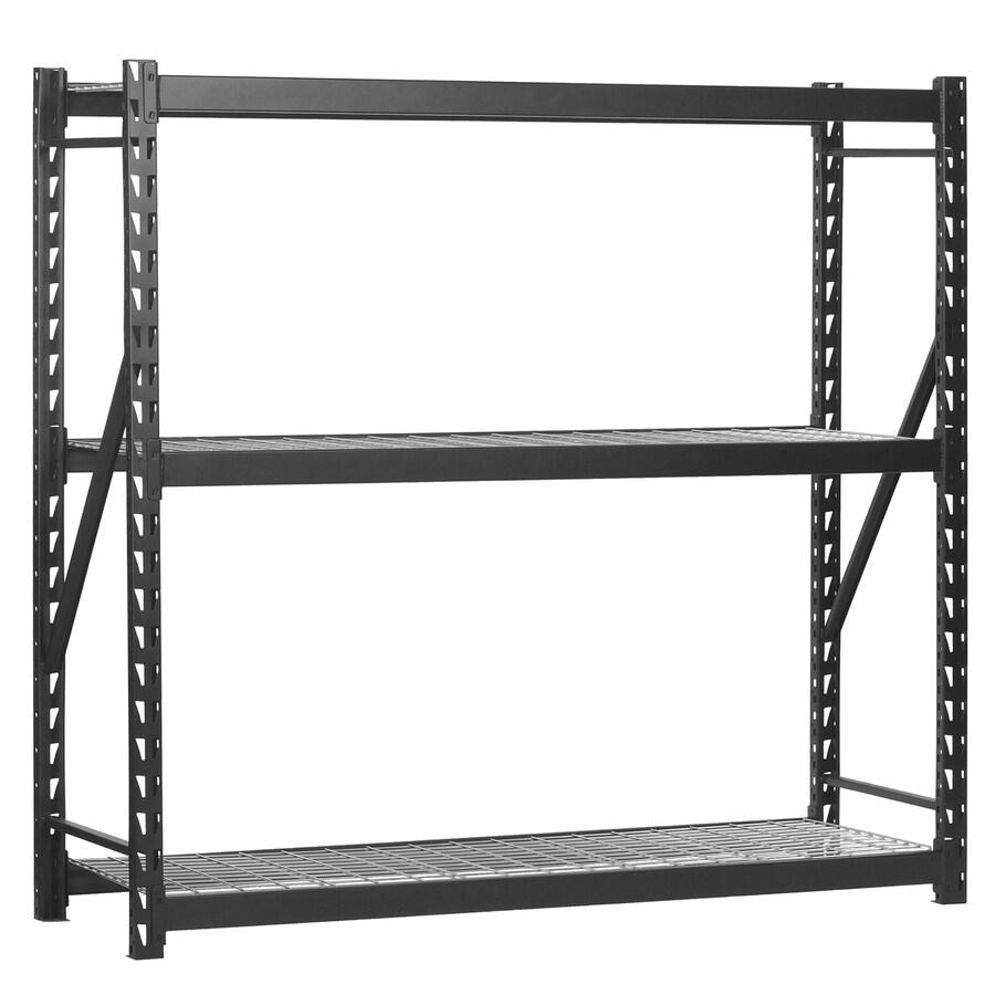 edsal 72-in H x 60-in W x 18-in D 3-Tier Steel Freestanding Shelving Unit