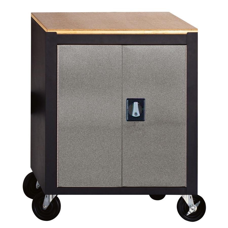 edsal 26.5-in W x 34-in H x 24-in D Steel Freestanding Garage Cabinet