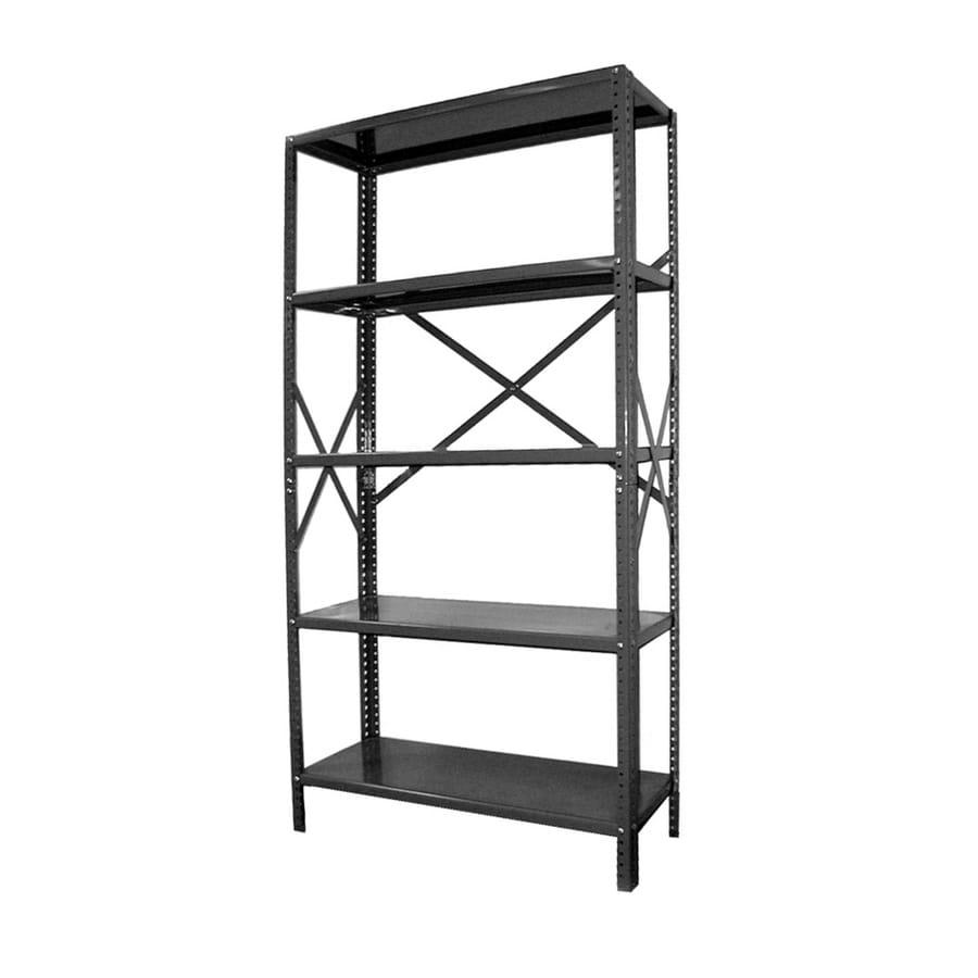 shop edsal 70 in h x 36 in w x 15 in d 5 tier steel. Black Bedroom Furniture Sets. Home Design Ideas