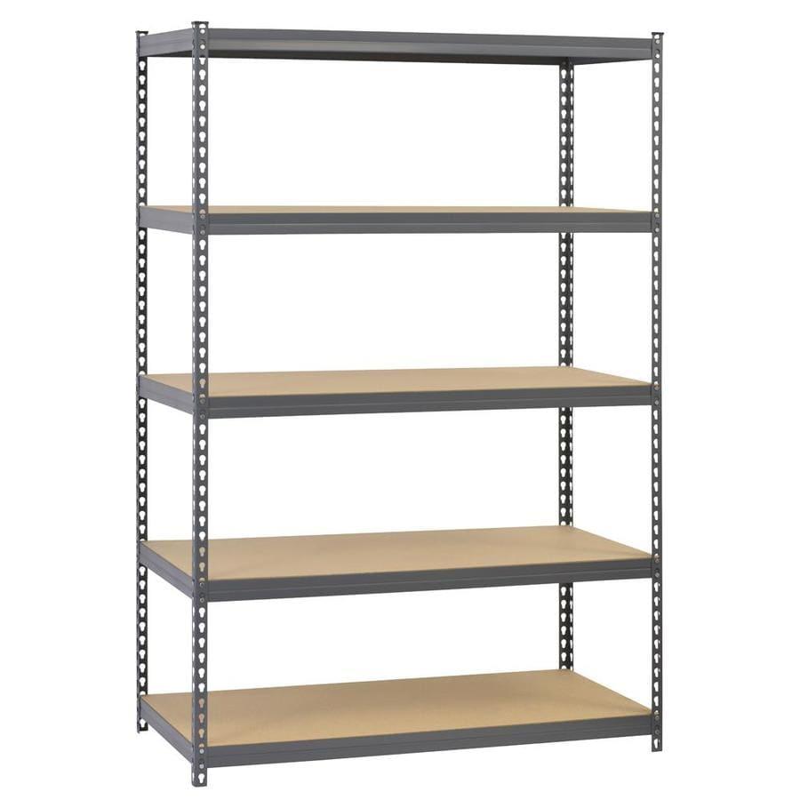 Heavy Duty Garage Racking Storage Shelving Units Boltless Metal Shelves 5-Tier