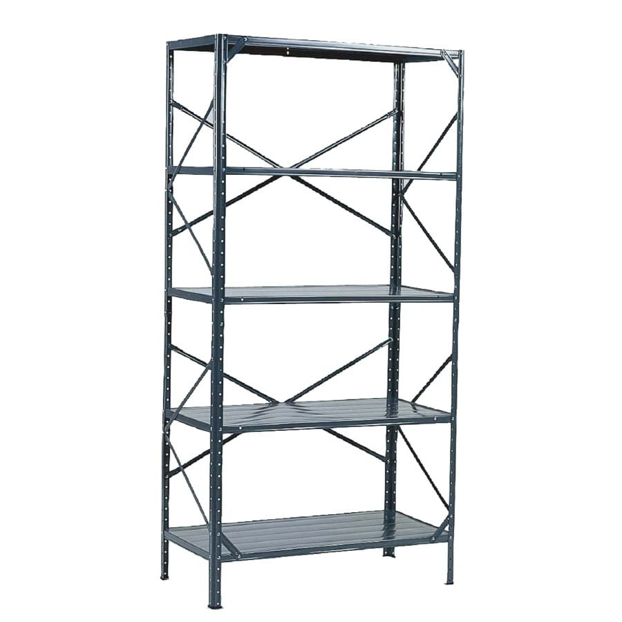 Go Home Black Industrial Kitchen Cart At Lowes Com: Shop Edsal 72-in H X 36-in W X 18-in D 5-Tier Steel